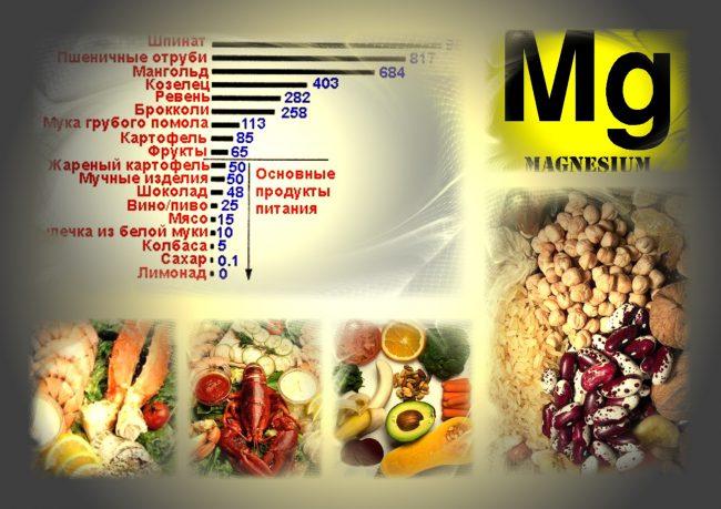 Поступление достаточного количества магния с продуктами питания позволяет законсервировать в организме аденозинтрифосфат, универсальный источник энергии биохимических процессов