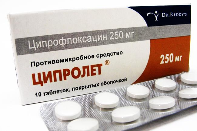 Таблетки Ципролет – антибактериальное средство, активное действующее вещество препарата – ципрофлоксацин, подавляет микробную репродукцию, действует как на размножающиеся микроорганизмы, так и на находящиеся в фазе покоя