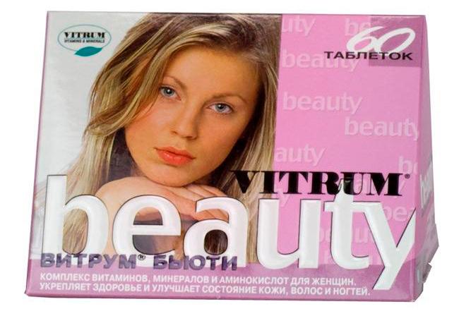Витрум Бьюти содержит набор минералов, витаминов и растительных компонентов, которые обладают антиоксидантным и общеукрепляющим воздействием, стимулируют процессы восстановления кожи и циркуляцию крови, улучшают структуру волос, предотвращая выпадение