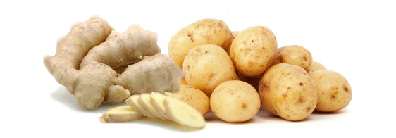 Имбирь или сок картошки помогут быстро избавиться от дискомфорта вызванного вздутием живота
